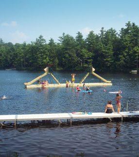 Floating Dock with Slides