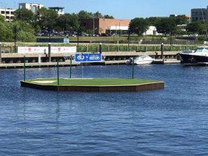 Floating green dock for hotels