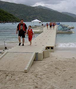 EZ Dock on Beach for Hotel