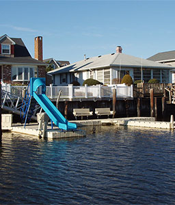 Residential Dock with Slide