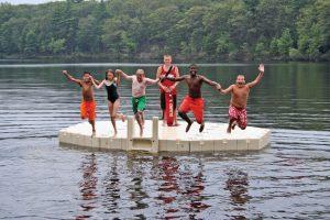 Kids Jumping Off Floating Dock
