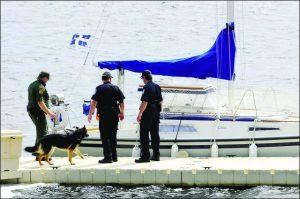 EZ Dock Law Enforcement Dog Inspection