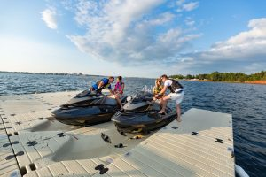Couples of EZ Dock Jet Ski Launch
