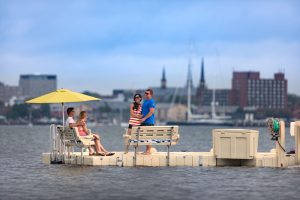 Floating Dock with Benches
