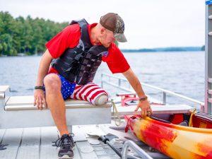 EZ Dock Man Launching Kayak