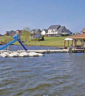 Park Floating Walkway Dock with Slide