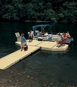 EZ Dock systems with a family at a park