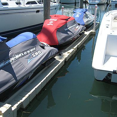 EZ Dock with Covered Jetskis