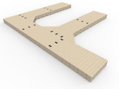 EZ Dock F Shape Dock Wide With Finger Docks