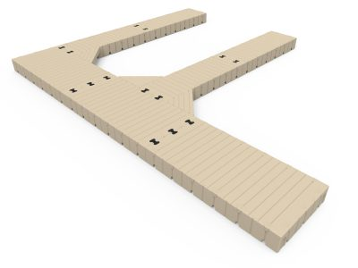 EZ Dock F Shape Dock with Finger Docks