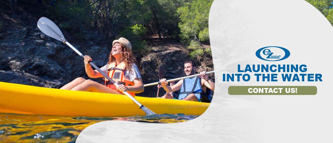 Launching into Water Kayaking