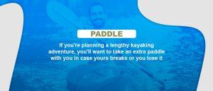 paddle for kayaking trip