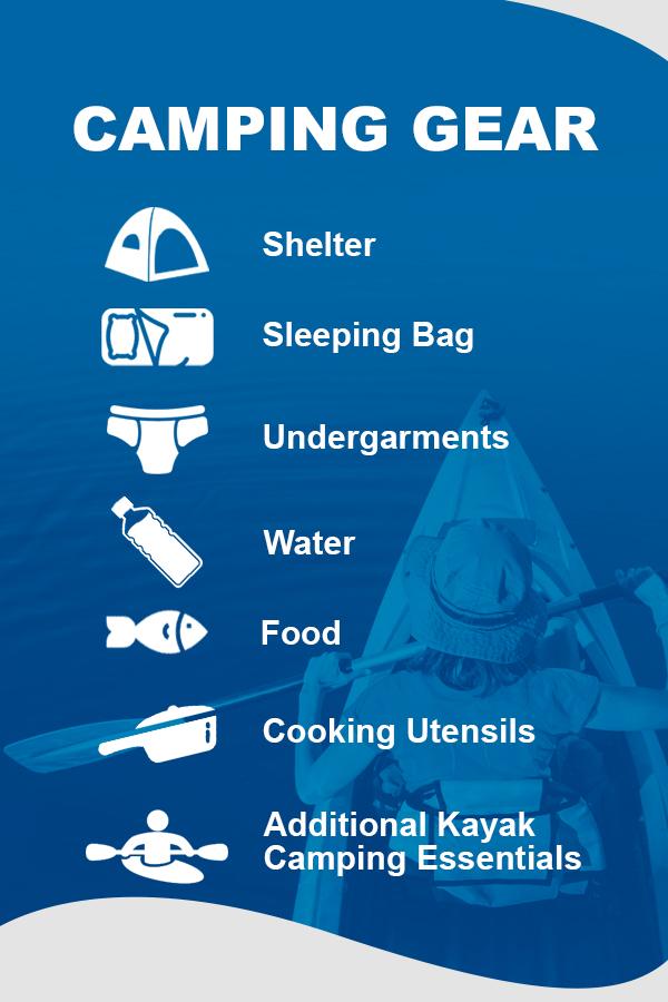 types of camping gear to bring kayaking