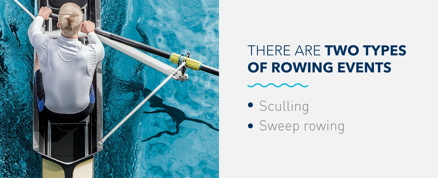 What are the categories in rowing?