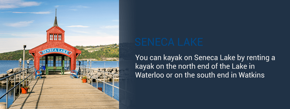 Kayaking in Seneca Lake
