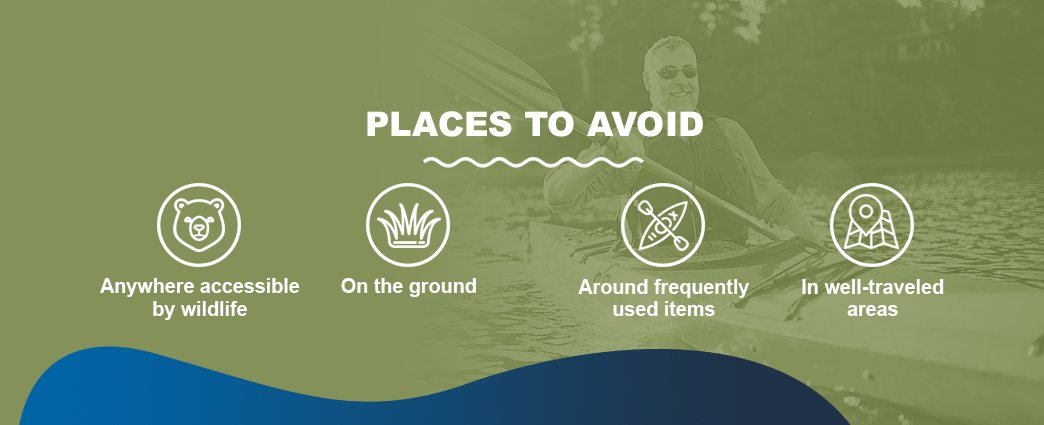 Places to avoid storing your kayak