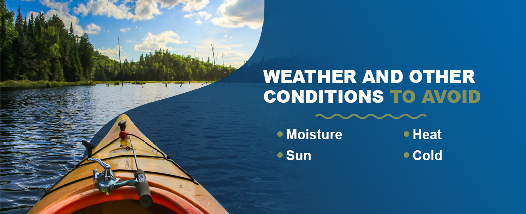 Kayak weather conditions to avoid