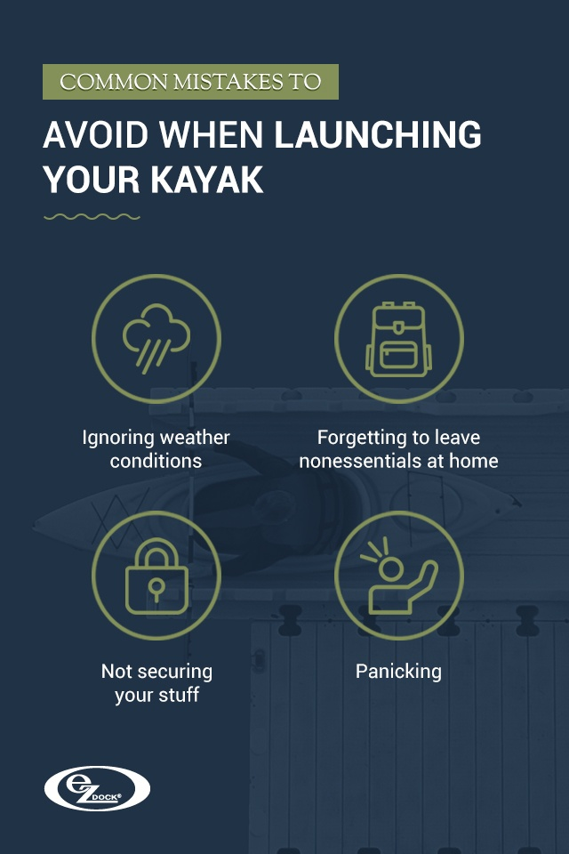 Mistakes to avoid when launching a kayak