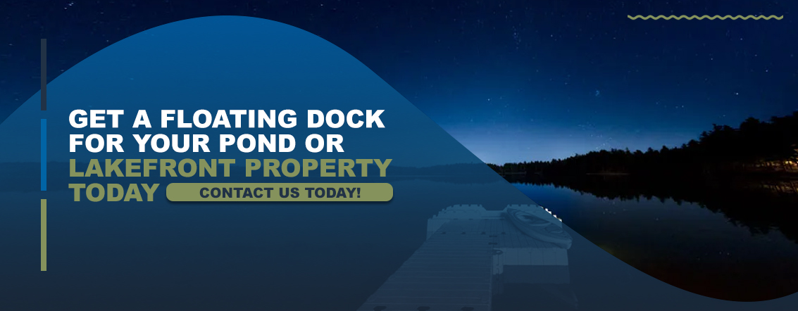 Get a floating dock for your pond or lakefront property