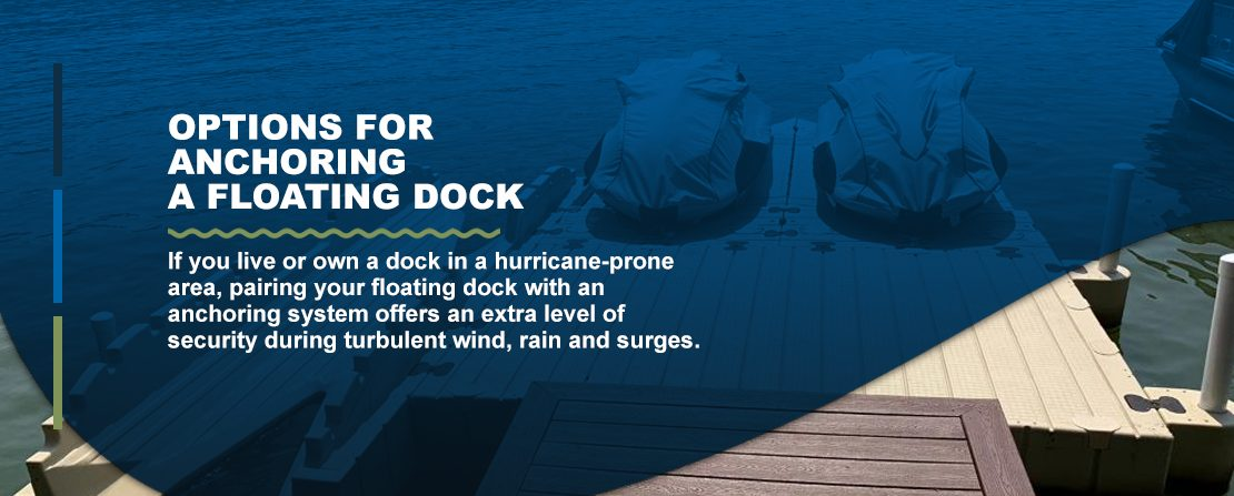 Options for anchoring floating docks