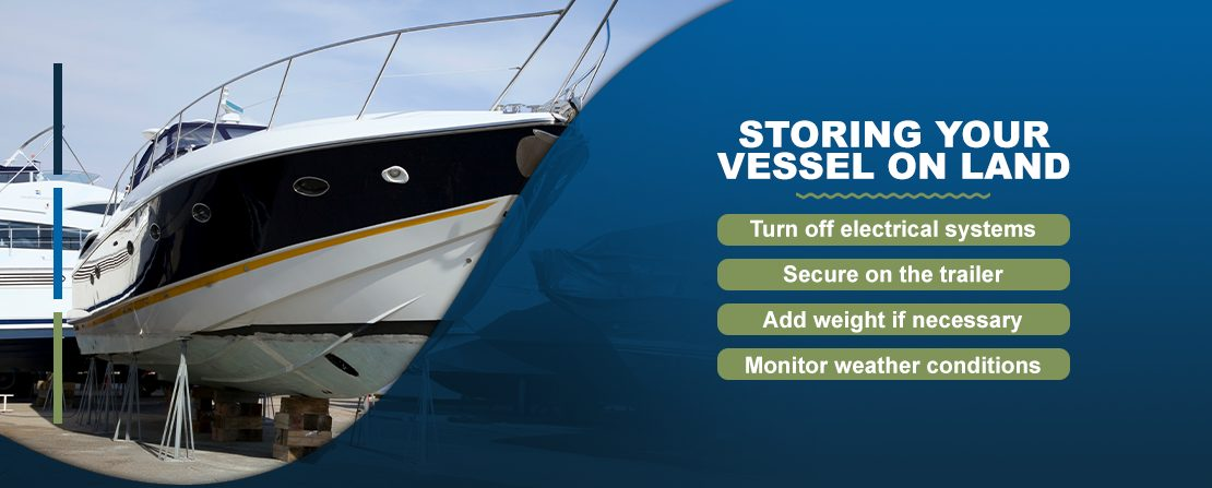 Storing your vessel on land