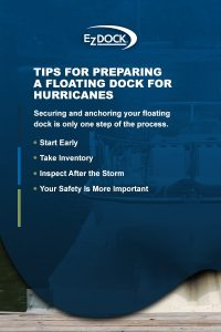 Tips for preparing a floating dock for hurricanes