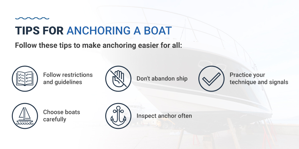 Tips for anchoring a boat