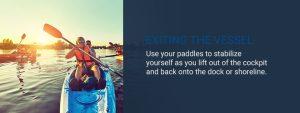 Ways to exit kayak