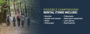 Campground rental items