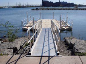 EZ Landing Dock in Water