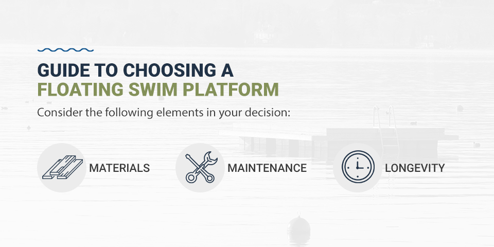 Guide to choosing a floating swim platform