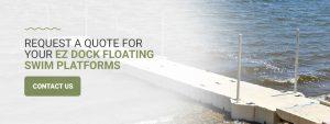 Request Quote for EZ Dock Swim Platform