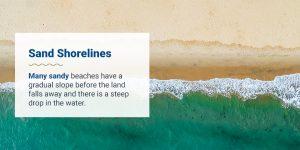 Sand shorelines