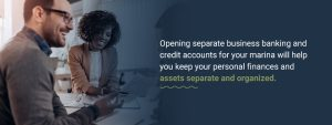 Open business accounts
