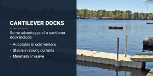 Cantilever docks