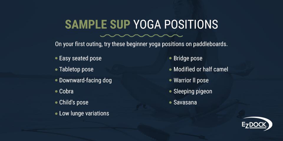 Sample SUP Yoga Positions