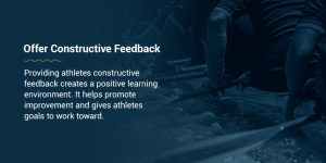 Offer Constructive Feedback